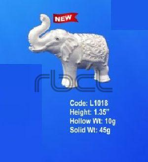L1018 Sterling Silver Elephant Statue