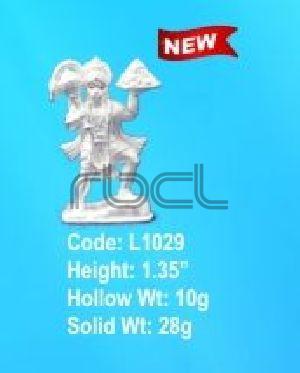 L1029 Sterling Silver Hanuman Statue