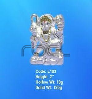 L103 Sterling Silver Hanuman Statue