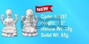 L1037 Sterling Silver Laxmi Ganesh Statue