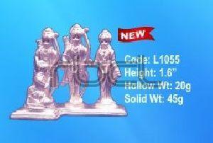 L1055 Sterling Silver Ram Darbar Statue
