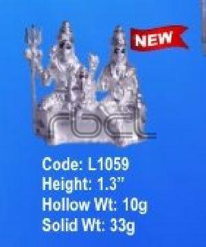 L1059 Sterling Silver Shiv Parivar Statue