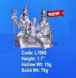 L1060 Sterling Silver Shiv Parivar Statue