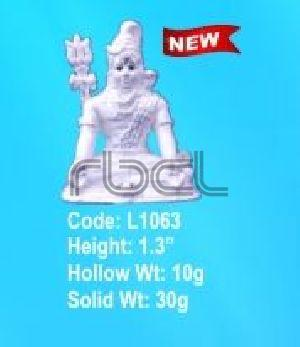 L1063 Sterling Silver Shivling Statue