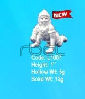 L1067 Sterling Silver Laddu Gopal Statue