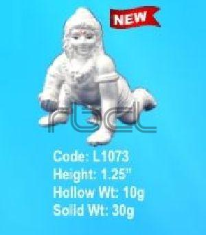 L1073 Sterling Silver Laddu Gopal Statue