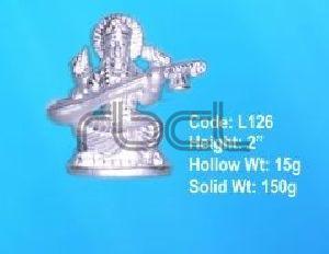 L126 Sterling Silver Saraswati Statue