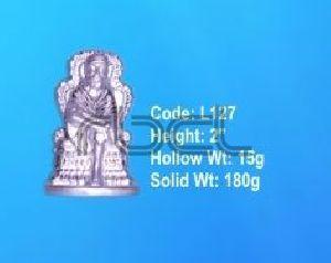 L127 Sterling Silver Sai Baba Statue