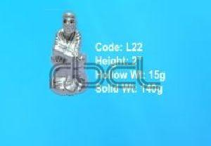 L22 Sterling Silver Sai Baba Statue