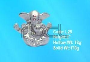 L28 Sterling Silver Ganesh Statue