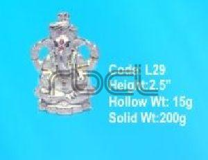 L29 Sterling Silver Ganesh Statue