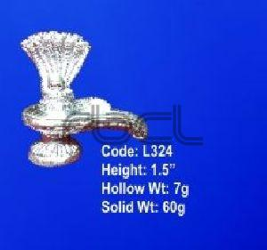 L324  Sterling Silver Shivling Statue