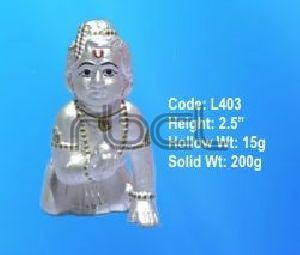 L326 Sterling Silver Laddu Gopal Statue
