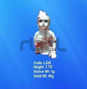 L328 Sterling Silver Laddu Gopal Statue