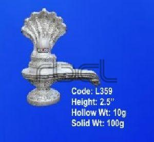 L359  Sterling Silver Shivling Statue