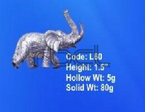 L60 Sterling Silver Elephant Statue