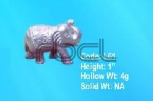 L61 Sterling Silver Elephant Statue