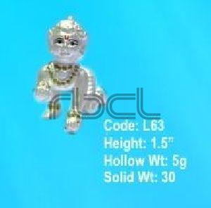 L63 Sterling Silver Laddu Gopal Statue