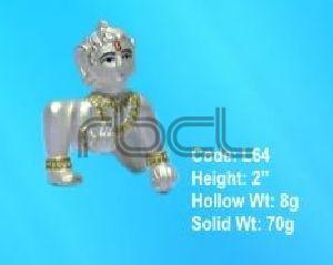 L64 Sterling Silver Laddu Gopal Statue