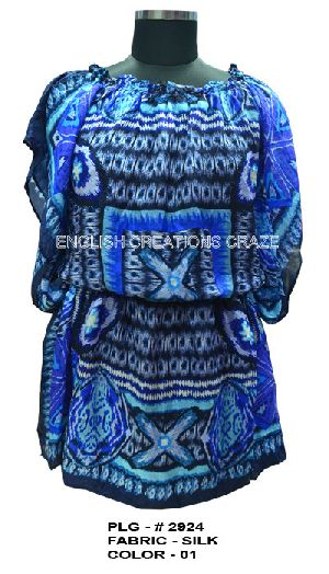 PLG-2924 Silk Beach Kaftan