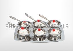 Stainless Steel Ice Cream Cup Set