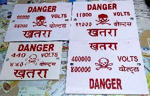 vitreous enamel danger plate