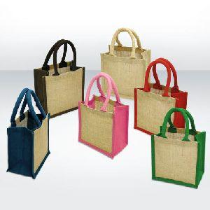 JB-5 : Jute Bag / Gusset, Handle color