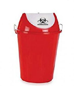 Red Colour Waste Bin