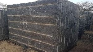 Black Rough Granite Blocks