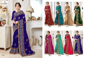 Georgette Bridal Saree