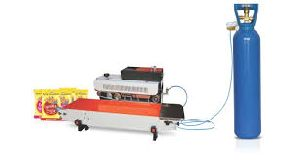 Band sealer with gas filling machine