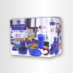 PP Printed Transparent Packaging Box For Pack Of 6 Containers