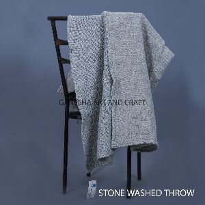 Light Gray Baby Throw Blankets
