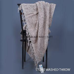 Light Cream Throw Blankets