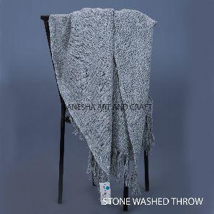 Stonewashed Throw Blankets