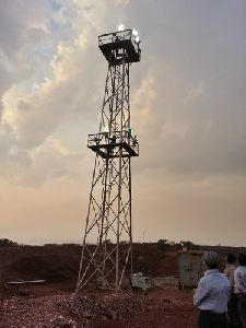 Ground Mounted Lattice Tower