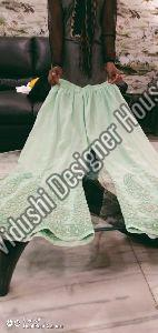 Green Georgette Palazzo Pant