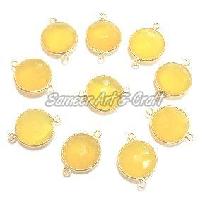 Yellow Chalcedony Gemstone Connector