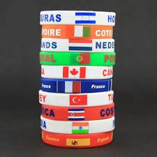 Country Flag Silicone Wristband
