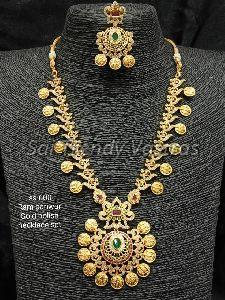 Gold Polish Necklace Set