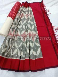 Peacock Cotton Dress Material