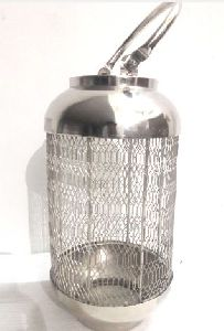 Nickel Candle Lantern