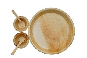 Areca Leaf Round Plate & Bowl Set