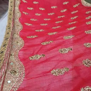 Embroidery Work Saree Fabric