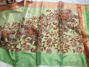 Print Work Saree Fabric