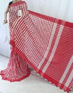Cotton Check Sarees
