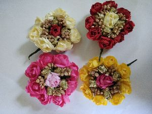 Designer Flower Hair Brooch