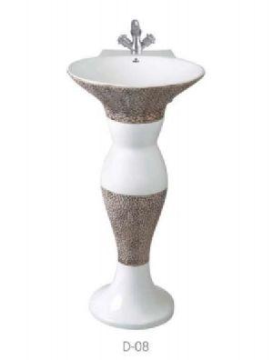 D-08 Dolphin Pedestal Wash Basin