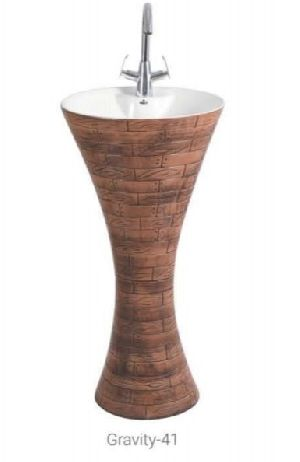 Gravity 41 One Piece Pedestal Wash Basin