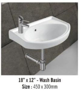Plain Wall Mounted Wash Basin